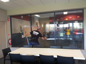 school window cleaner