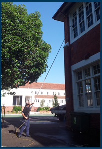 window cleaning at school